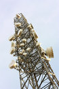 Cell phone transmitter tower Royalty Free Stock Photo