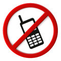 Cell phones not allowed d render of sign Stock Images