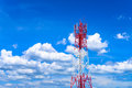 Cell Site base transceiver station Horizontal view Royalty Free Stock Photo