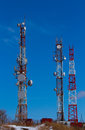 Cell tower background blue sky Stock Photos