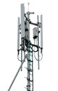 Cell tower and radio antenna Royalty Free Stock Photo