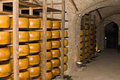 Cellar with Cheese Royalty Free Stock Photography