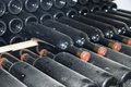 Cellars with wine bottles Stock Image