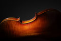 Cello back silhouette Royalty Free Stock Photo