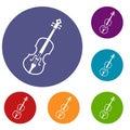 Cello icons set