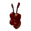 Cello musical instrument 3d illustration