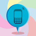 Cellphone bubble design over colorful background vector illustration Royalty Free Stock Photography