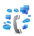 A cellphone chat concept illustration design over white background Stock Photos