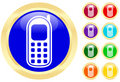 Cellphone icon Stock Image