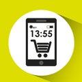Cellphone internet e-commerce network media icon Royalty Free Stock Photo