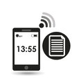 Cellphone internet file network media icon Royalty Free Stock Photo