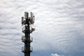 Cellphone Tower Landscape Royalty Free Stock Photo
