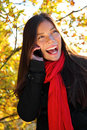 Cellphone woman excited Royalty Free Stock Photos