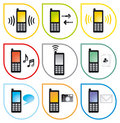 Cellphone01_5_icons3 Stock Photos