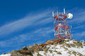Cellular antenna on top of the mountain Stock Photography