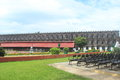 Cellular jail side view of one of the wings in the port blair andaman and nicobar islands india Stock Photo