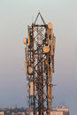 Cellular phone tower Royalty Free Stock Photo