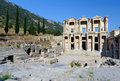 Celsius Library at ancient Ephesus Stock Photos