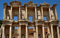 Celsius library antique celsus in efesus izmir turkey Stock Photo