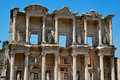 The Celsus Library in Ephesus Stock Images