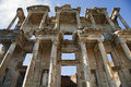 Celsus library in ephesus ancient town of turkey Royalty Free Stock Photography