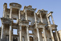 Celsus library in ephesus ancient town of turkey Stock Images