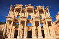 Celsus library in ephesus izmir turkey Royalty Free Stock Photo