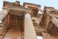 Celsus library in ephesus turkey antigue architecture Stock Photo