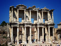 Ruins of Celsus library in Ephesus