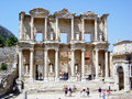 Celsus tomb the ancient of at ephesus in turkey Stock Image
