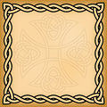 Celtic background with twisted frame and ornament watermark Royalty Free Stock Images