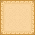 Celtic background with twisted frame and ornament watermark Stock Images