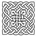 Celtic black and white pattern. Scandinavian ornament. Ribbon background.