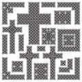 Celtic borders and crosses