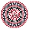 Celtic braided pattern, mandala