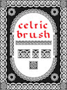 Celtic brush for frame and design seamless vector Stock Photos