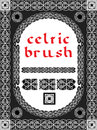 Celtic brush for frame and design seamless vector Royalty Free Stock Photography