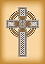 Celtic cross on brown vintage background Royalty Free Stock Photo