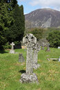 Celtic cross in churchyard loweswater lake district detail Stock Image