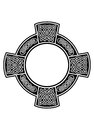 Celtic cross with framework Stock Image