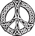 Celtic Design - Peace symbol Royalty Free Stock Photo