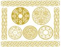 Celtic designs illustration set of including knots and borders Royalty Free Stock Photos