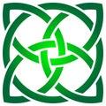 Celtic shamrock knot in circle. Symbol of Ireland Royalty Free Stock Photo