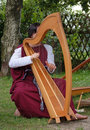 Celtic Harp Royalty Free Stock Images