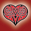Celtic heart Royalty Free Stock Photos