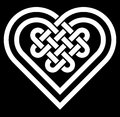 Celtic Heart Shape Knot Vector...