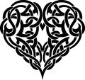 Celtic heart tattoo intertwined pattern shaped decorative illustration Stock Image