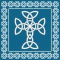 Celtic irish cross,symbolizes eternity,vector illustration Royalty Free Stock Photo