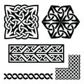 Celtic Irish and Scottish patterns - knots, braids, key patterns Royalty Free Stock Photo