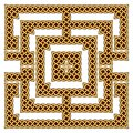 Celtic knot border Royalty Free Stock Photo